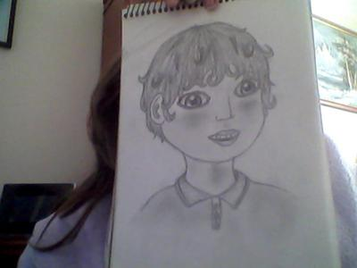 the pic i drew of the 7 year old boy