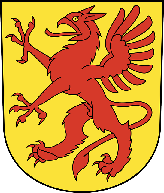 A griffin on a coat of arms