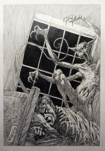 Night Demon - Evil Demons Drawings - by The Gurch