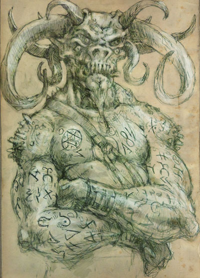 Sigil Demon - Evil Demons Drawings - by The Gurch