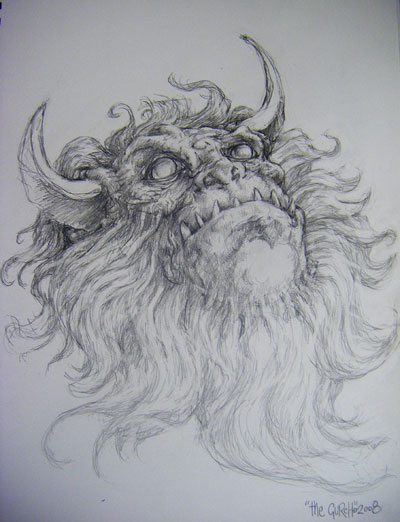 Beauty In The Beast - Evil Demons Drawings - by The Gurch
