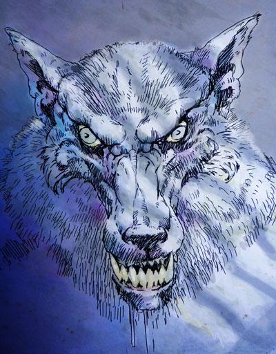 Werewolf at Night by the Gurch